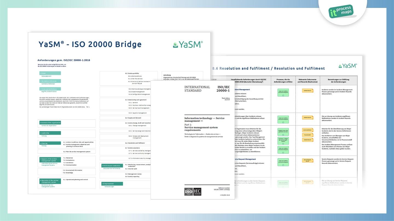 YaSM - ISO 20000 Bridge. Detailliertes ISO-20000-Prozessmodell zur Umsetzung aller Anforderungen aus der DIN ISO/IEC 20000.