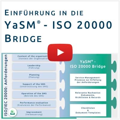 Video: Stefan Kempter stellt das ISO-20000-Prozessmodell - die YaSM - ISO 20000 Bridge - vor.