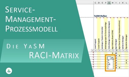 Video: Die RACI-Matrix (Verantwortlichkeits-Matrix) zeigt, wie die einzelnen Rollen an den Service-Management-Prozessen mitwirken.