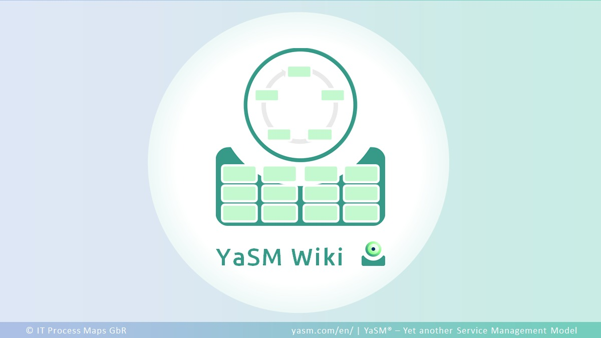 YaSM-Wiki, the new, free Service Management Wiki for everyone in the business of providing services. The Wiki presents the most recent thinking in service management, including introductions to Enterprise Service Management (ESM), ITSM and ISO 20000.