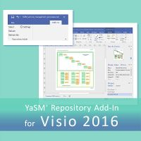 The YaSM repository add-in for Visio 2016