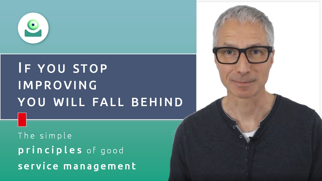Video about the CSI process (continual service improvement): If you stop improving, you will fall behind.