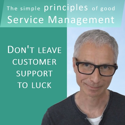 YaSM video: Don't leave customer support to luck. Service support and incident management.