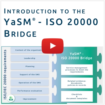 Video: ISO 200000 process templates. In this video Stefan Kempter explains how we can provide reference processes and process templates for ISO/IEC 20000:2018.
