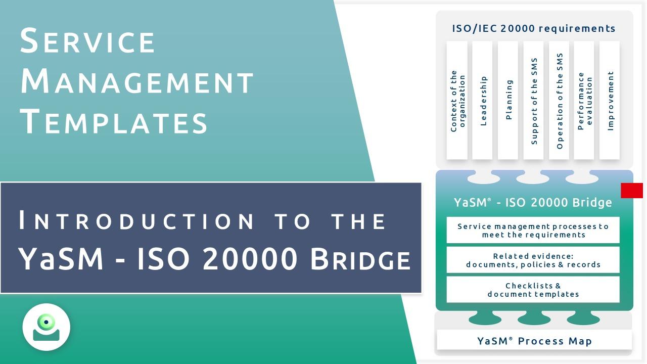 Intro to the YaSM - ISO 20000 Bridge