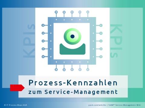 Service-Management-Kennzahlen bzw. KPIs (Key Performance Indicators) dienen zur Beurteilung der Service-Lifecycle-Prozesse und unterstützenden Prozesse im YaSM Service-Management-Prozessmodell.