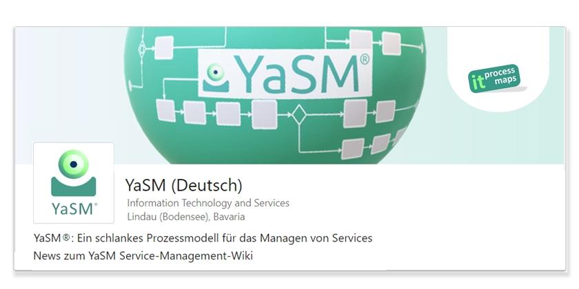 YaSM - LinkedIn Showcase-Seite. YaSM® - das Service-Management-Prozessmodell. News zu YaSM (Deutsch).