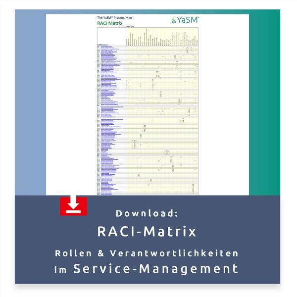 Kostenloser Download: RACI-Matrix für das Service-Management.