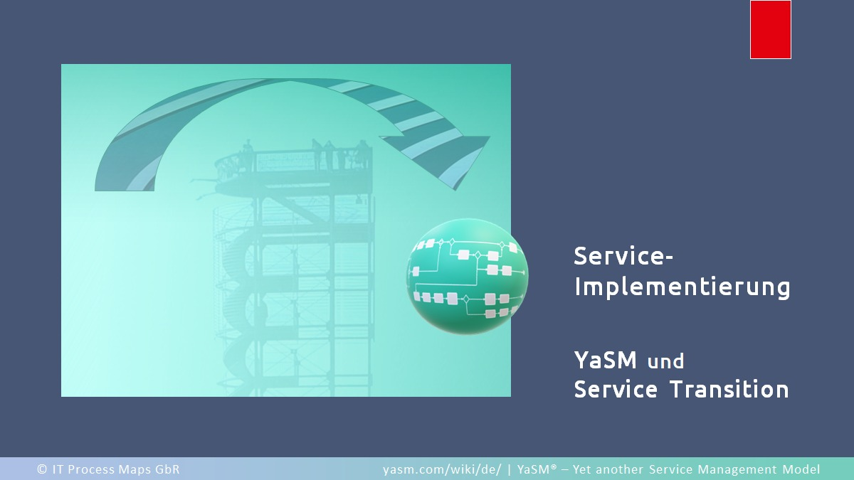 Sehr geradlinig: Der Service-Implementierungs-Prozess ('Service Transition') in YaSM.