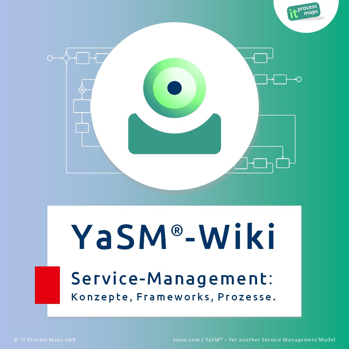 Service-Management-Wiki: Wiki zu YaSM, Service-Management (Enterprise-Service-Management, IT-Service-Management) und ISO 20000 (ISO/IEC 20000). Referenz-Material zum YaSM Service-Management-Prozessmodell.