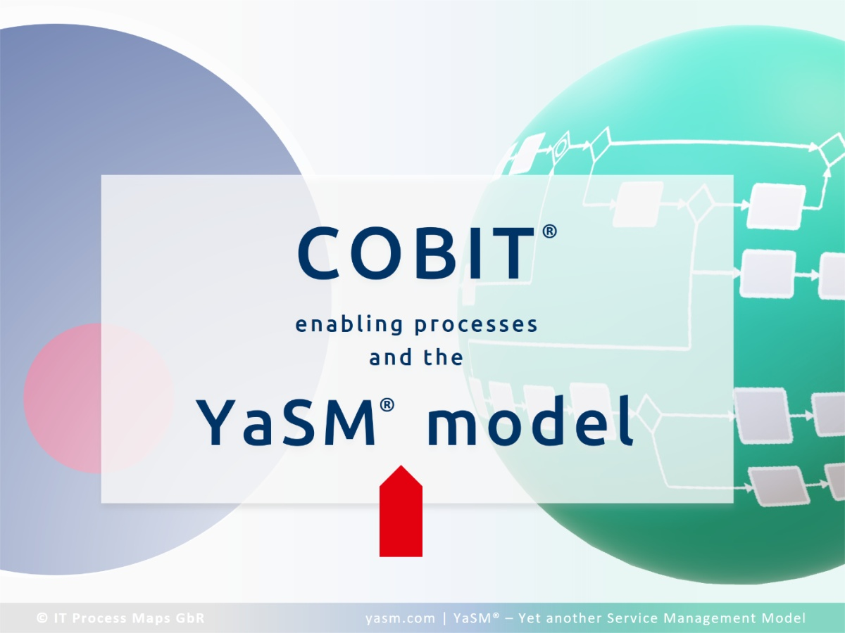 COBIT® enabling processes and how they relate to YaSM service management processes - cross-reference.