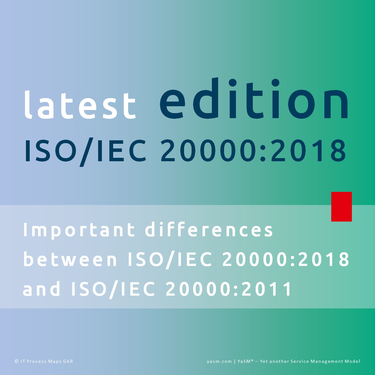 The new edition of ISO/IEC 20000 - ISO 20000:2018