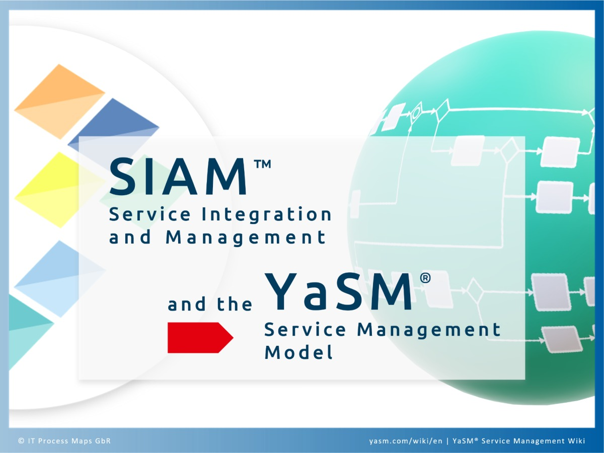 Comparison: SIAM Service Integration and Management and the YaSM Service Management Model. Process templates and process diagrams for SIAM projects.