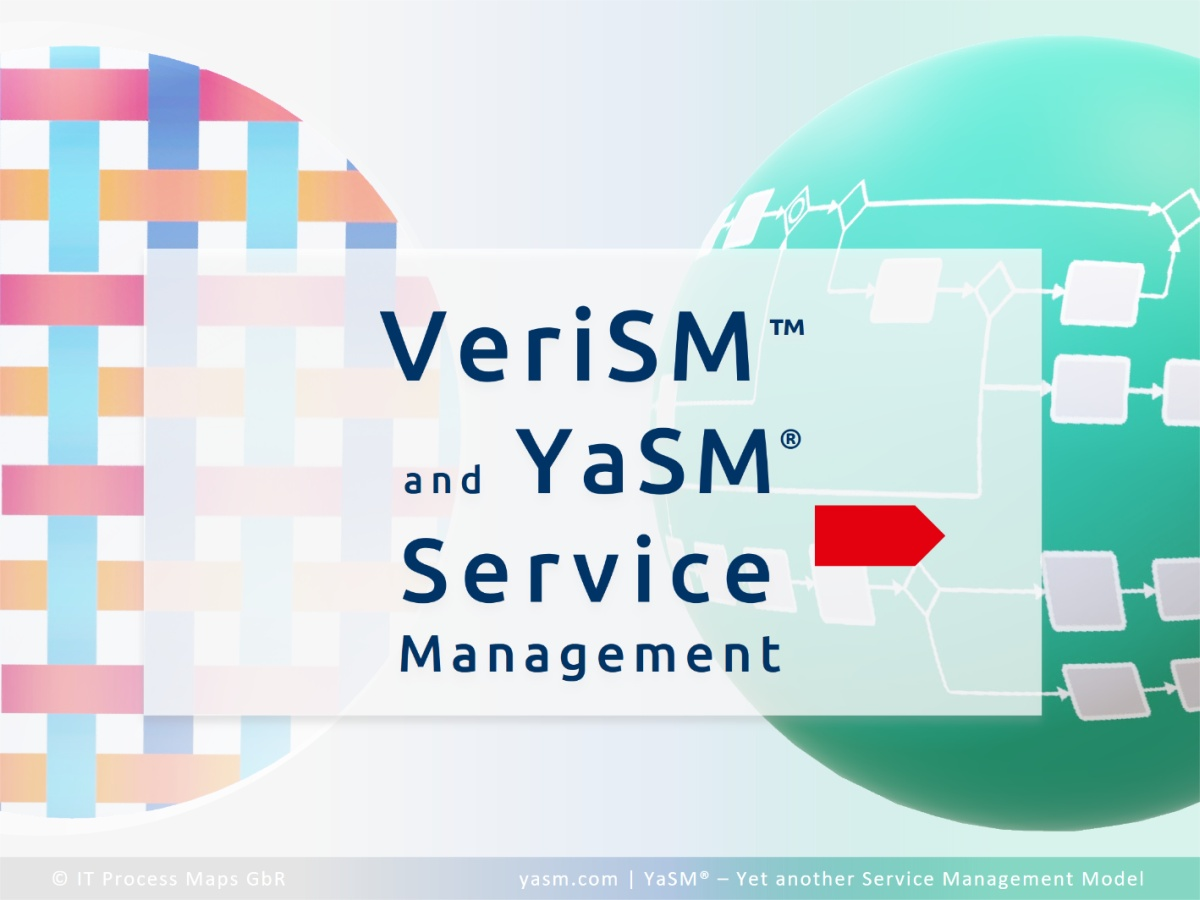 Comparison: VeriSM and YaSM service management. Ready-to-use process templates and diagrams for VeriSM projects.