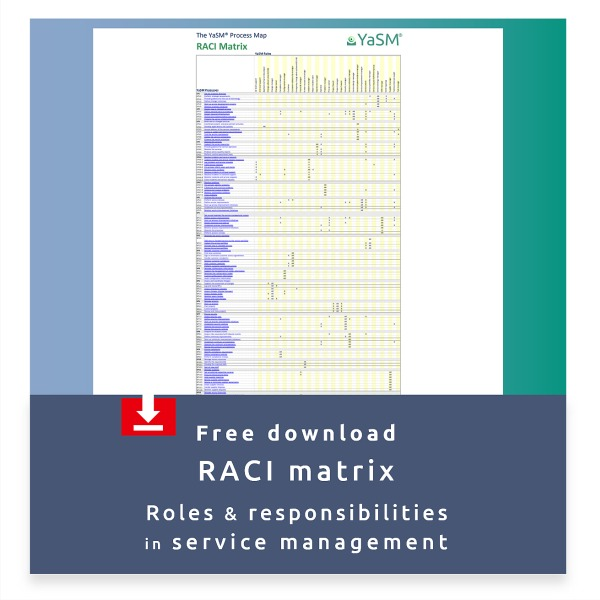 Free download: RACI matrix for service management.